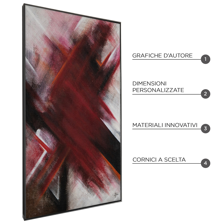 RED POPPY - QBX DESIGN quadro astratto