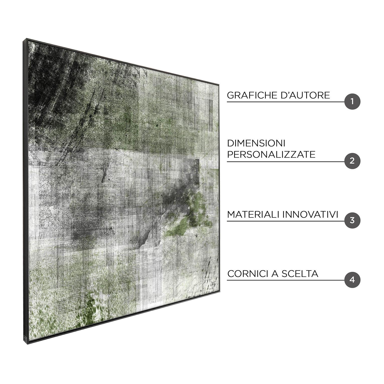 X-GREEN - QBX DESIGN QUADRO ASTRATTO