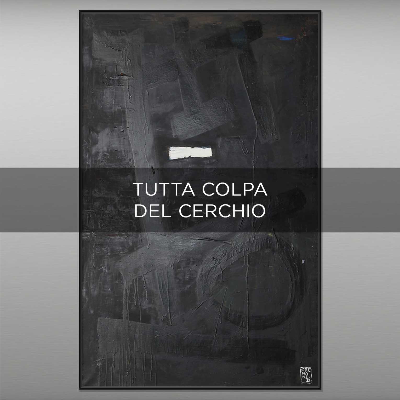 TUTTA COLPA DEL CERCHIO - QBX DESIGN QUADRI ASTRATTI