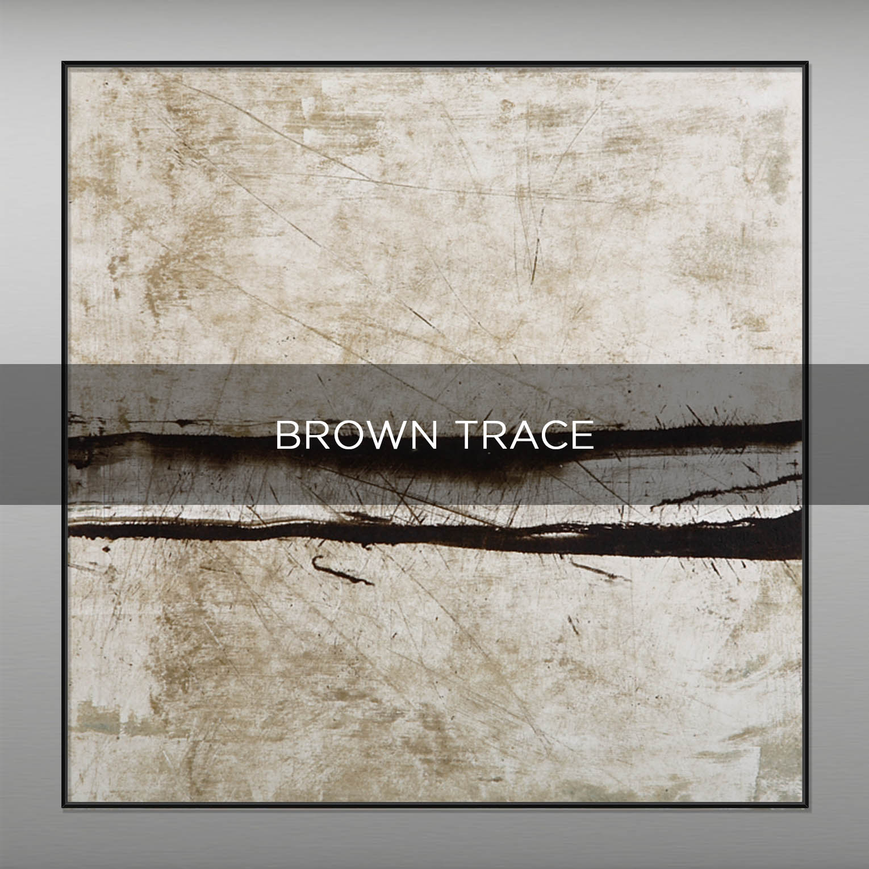 BROWN TRACE - QBX DESIGN QUADRI ASTRATTI