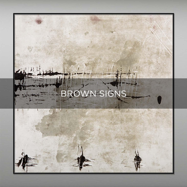 BROWN SIGNS - QBX DESIGN QUADRI ASTRATTI