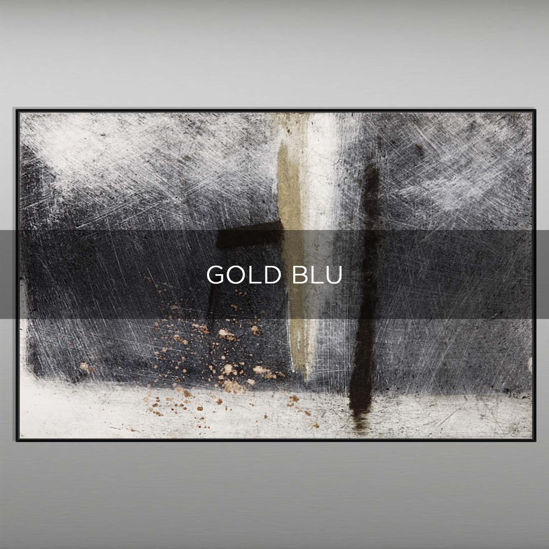 GOLD BLU - QBX DESIGN QUADRI ASTRATTI