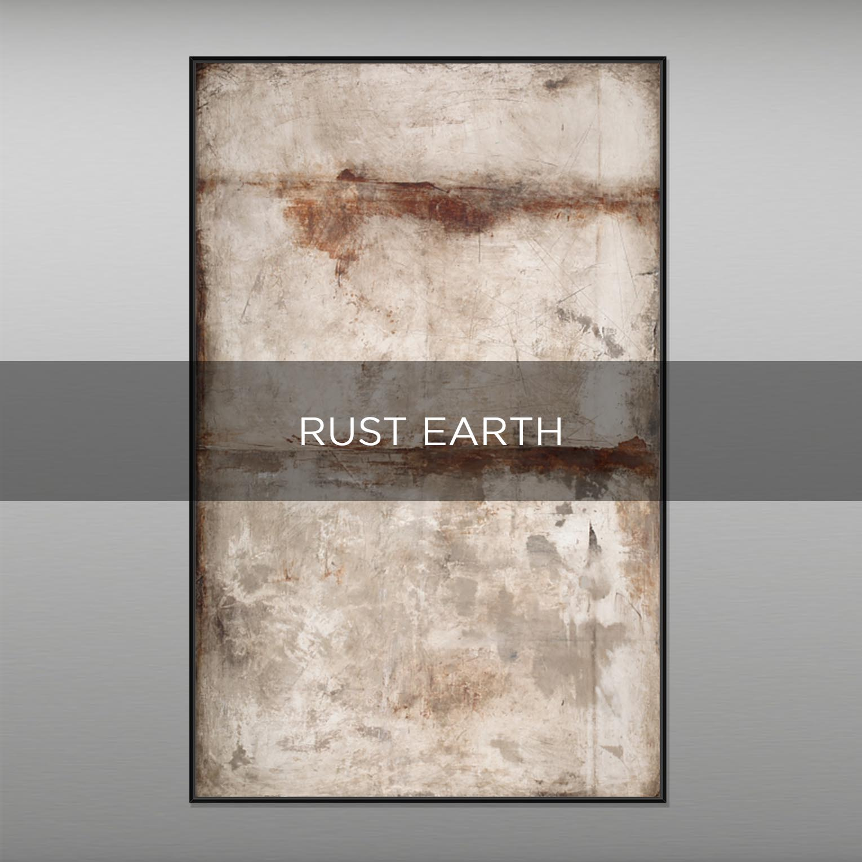 RUST EARTH - QBX DESIGN QUADRI ASTRATTI
