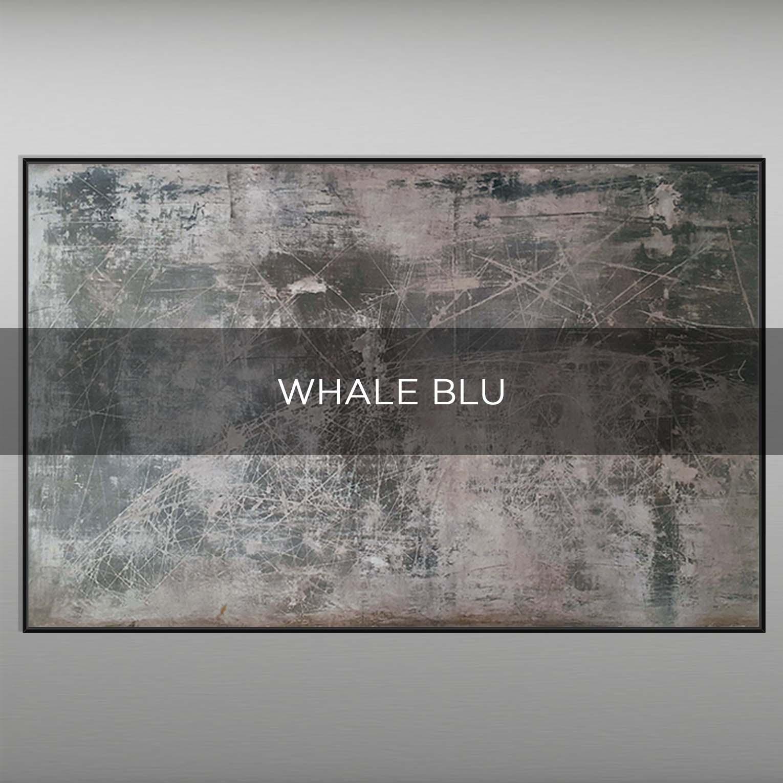 WHALE BLUE - QBX DESIGN QUADRI ASTRATTI
