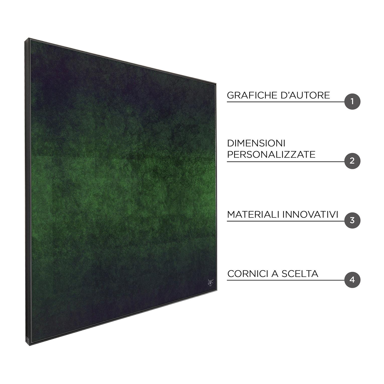 C-GREEN - QBX DESIGN QUADRO ASTRATTO