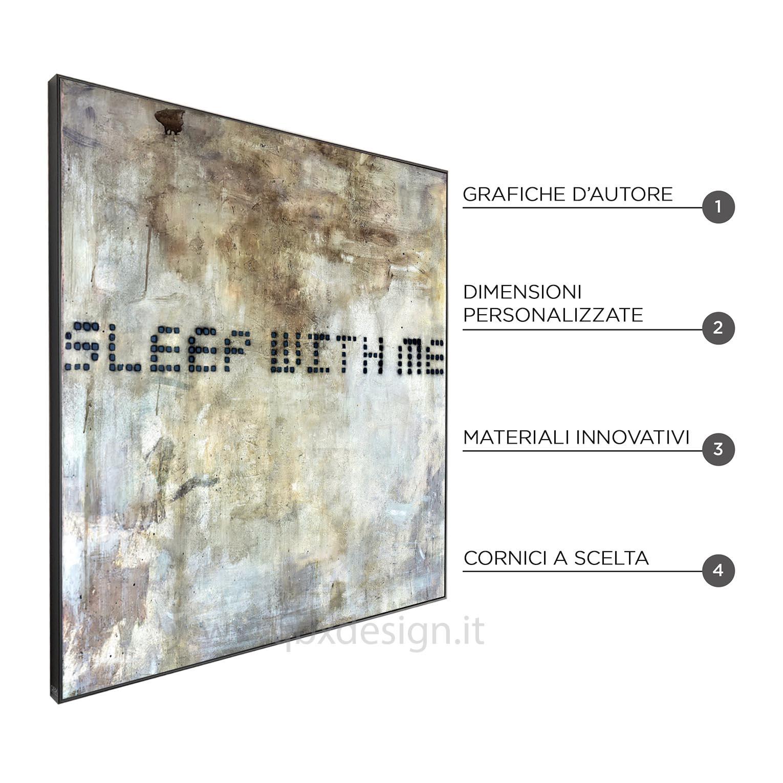 SLEEP WITH ME I - QBX DESIGN QUADRO ASTRATTO