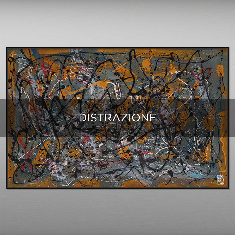 DISTRAZIONE - QBX DESIGN QUADRI ASTRATTI