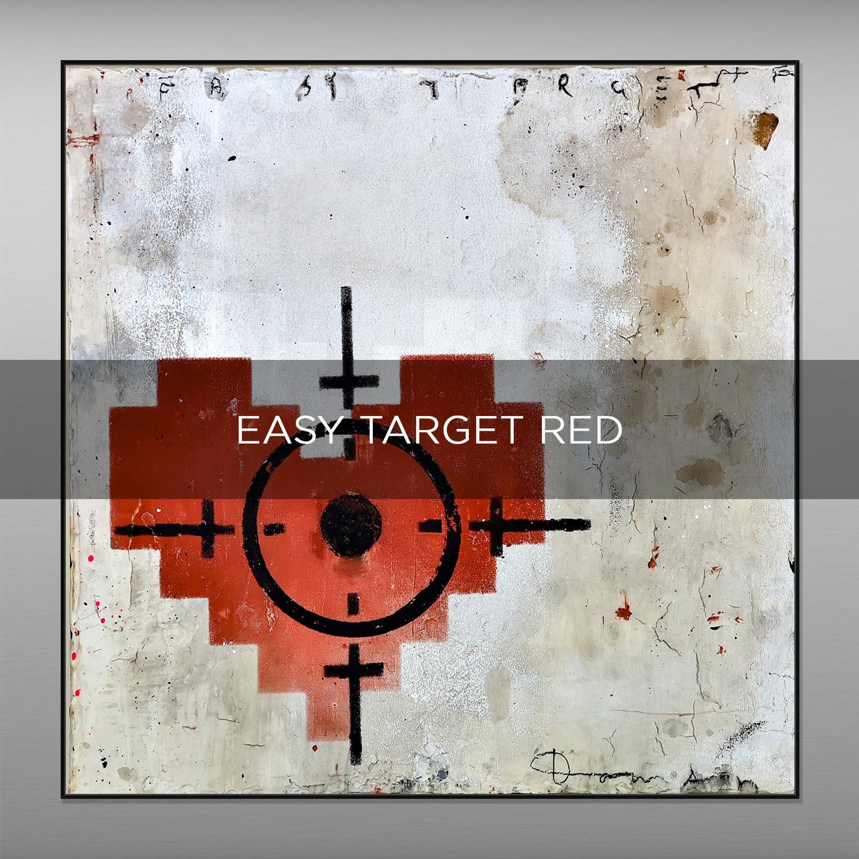 EASY TARGET RED - QBX DESIGN QUADRI ASTRATTI