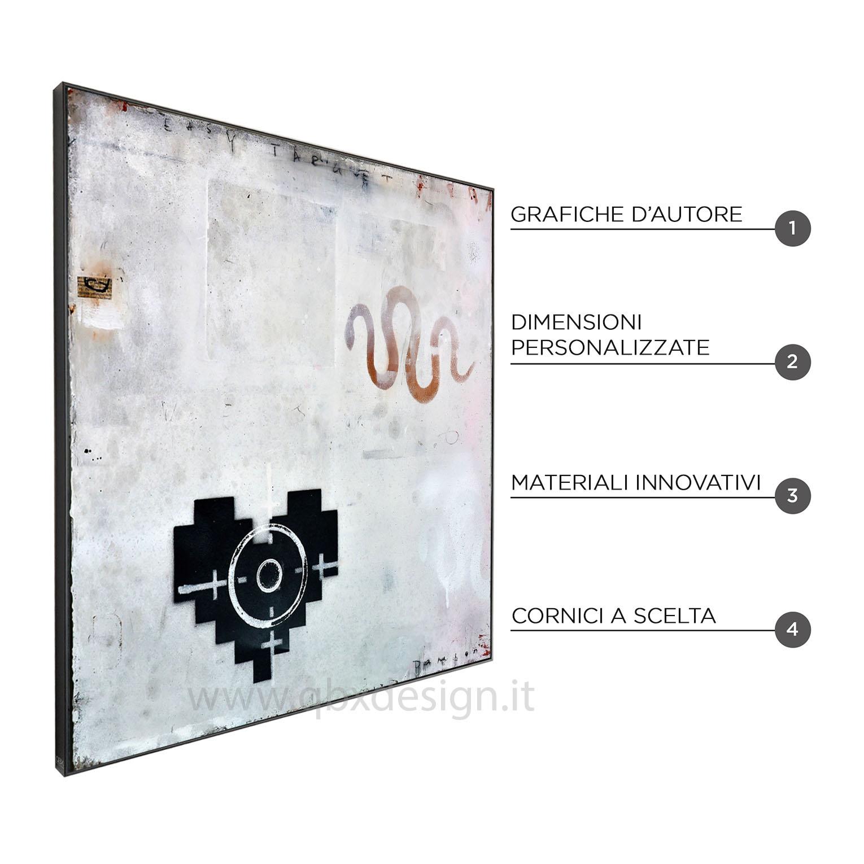 EASY TARGET BLACK - QBX DESIGN QUADRO ASTRATTO