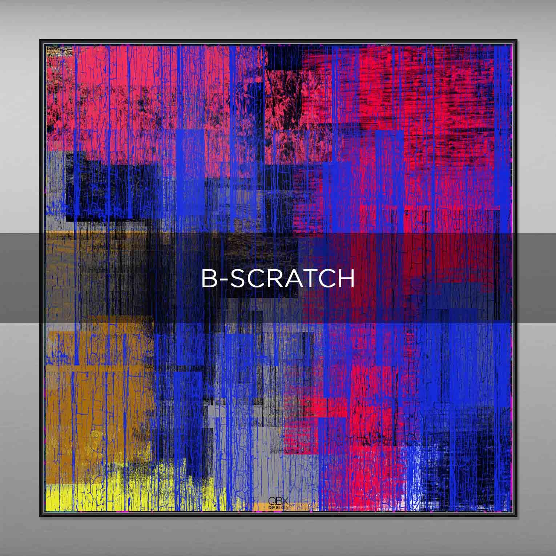 B-SCRATCH - QBX DESIGN QUADRI ASTRATTI