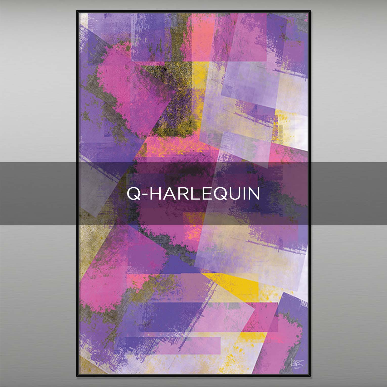 Q-HARLEQUIN - QBX DESIGN QUADRI ASTRATTI