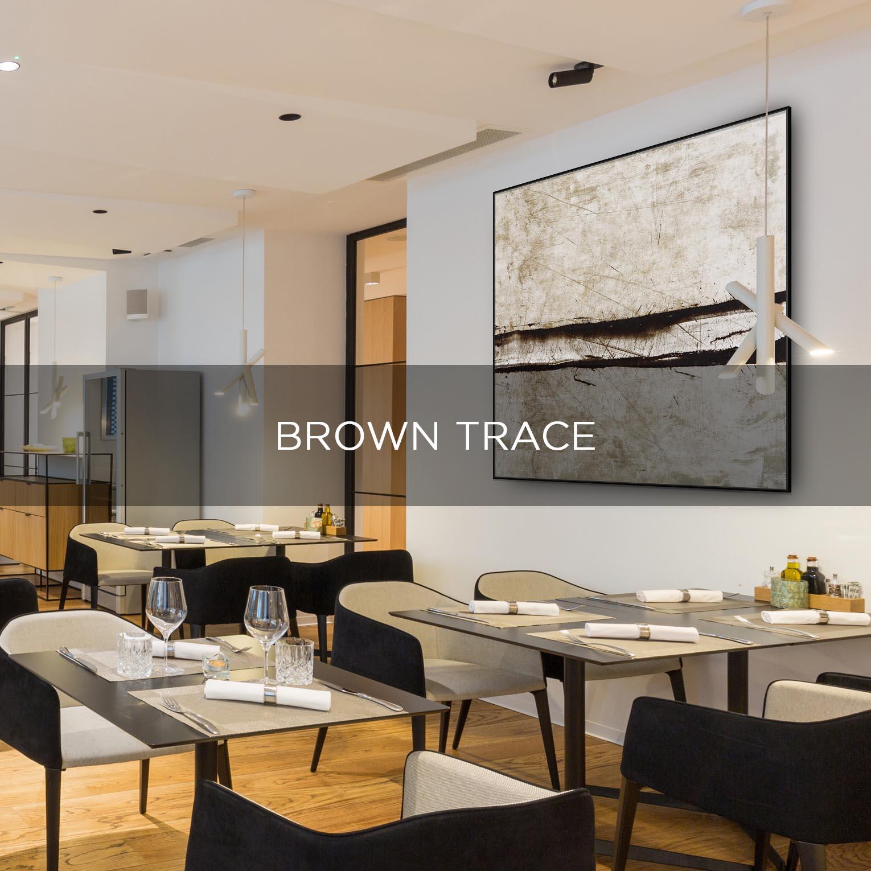 BROWN TRACE - QBX DESIGN QUADRO D'ARREDO PER IL SETTORE LUXORY