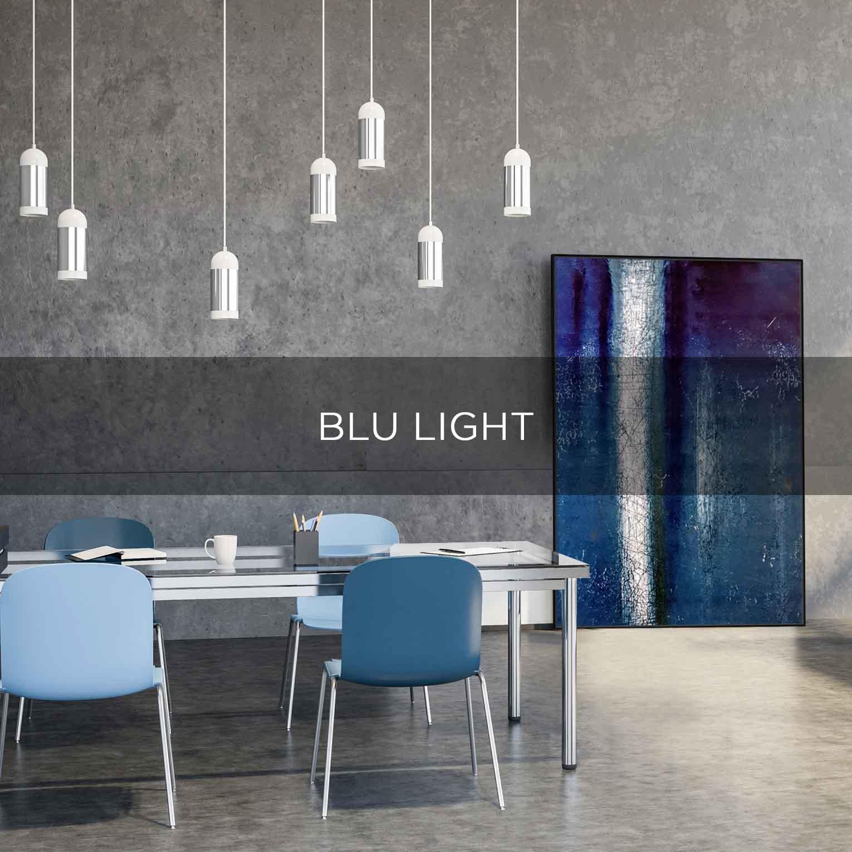 BLU LIGHT - QBX DESIGN QUADRO D'ARREDO PER IL SETTORE LUXORY