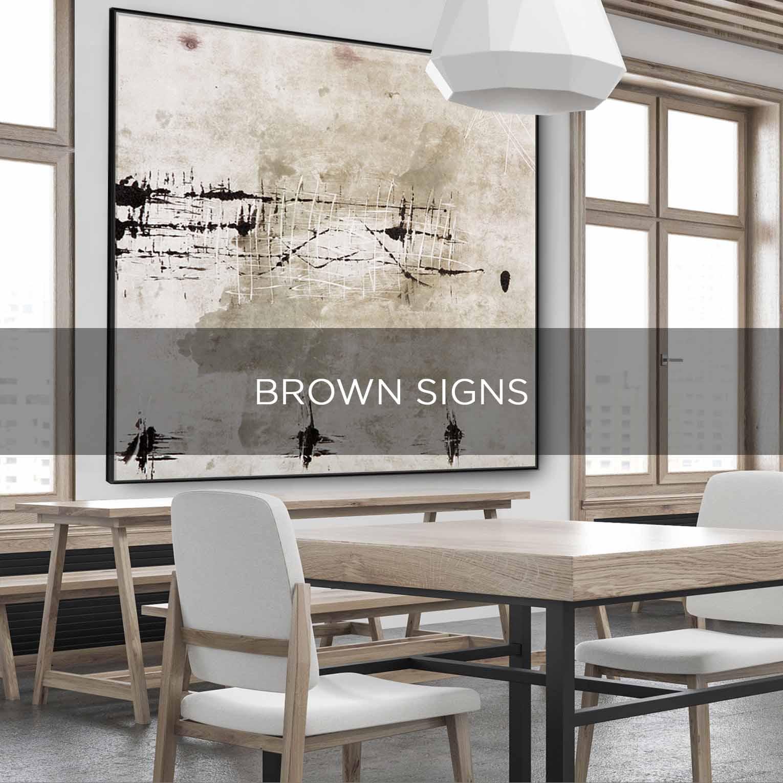 BROWN SIGNS - QBX DESIGN QUADRO D'ARREDO PER IL SETTORE LUXORY
