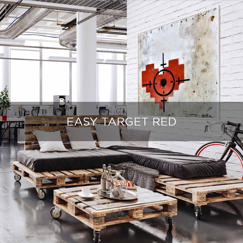 EASY TARGET RED- QBX DESIGN QUADRO D'ARREDO PER IL SETTORE LUXORY
