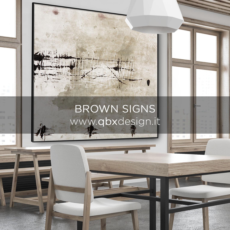 Anteprima Brown Signs qbx design