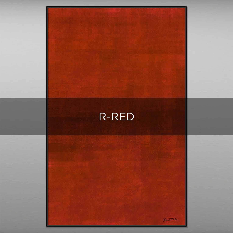 R-RED - QBX DESIGN QUADRI ASTRATTI