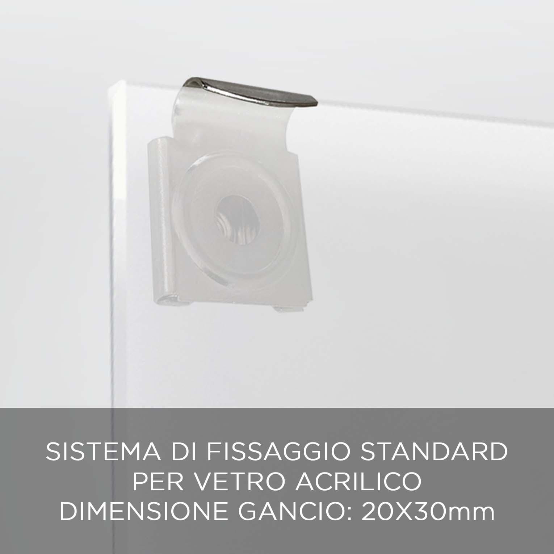FISSAGGIO VETRO ACRILICO QBX DESIGN