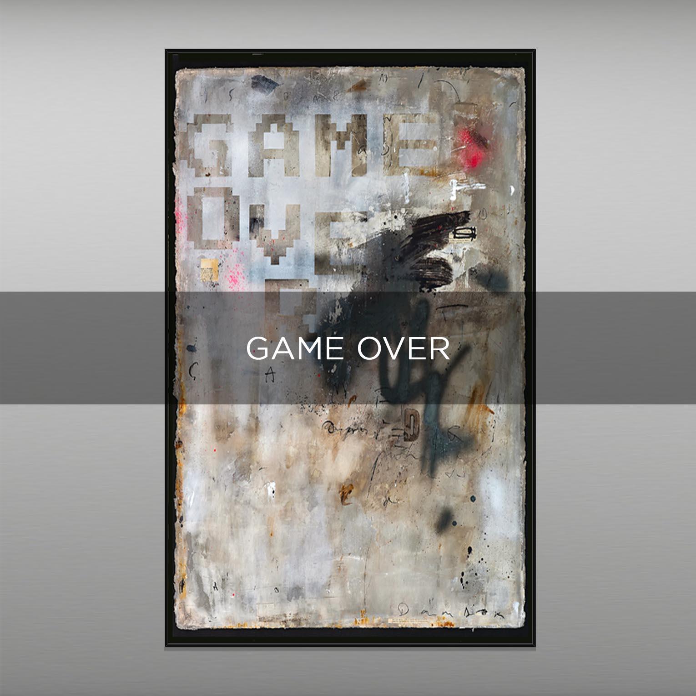 GAME OVER - QBX DESIGN QUADRI ASTRATTI