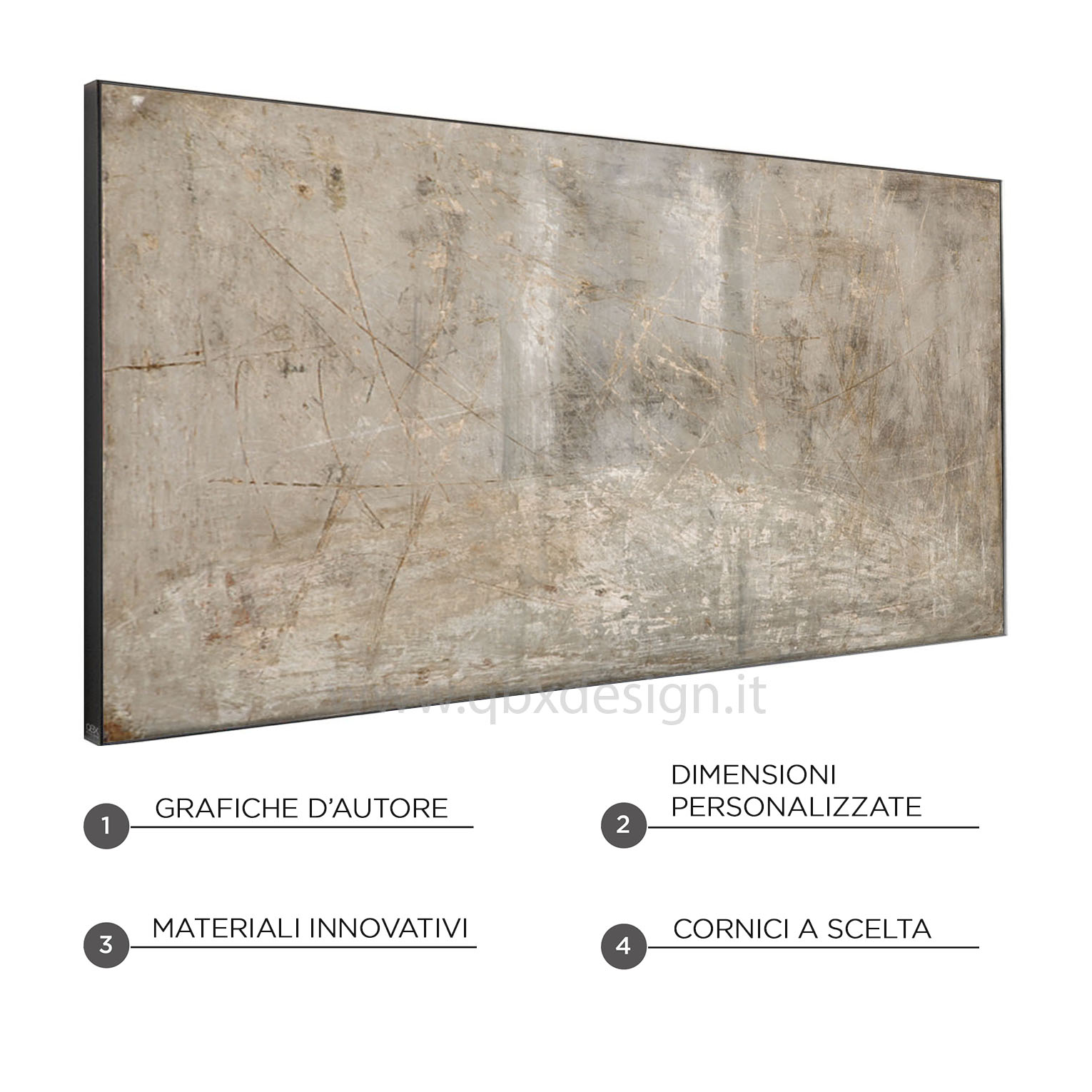 GREY SURFACE - QBX DESIGN QUADRO ASTRATTO