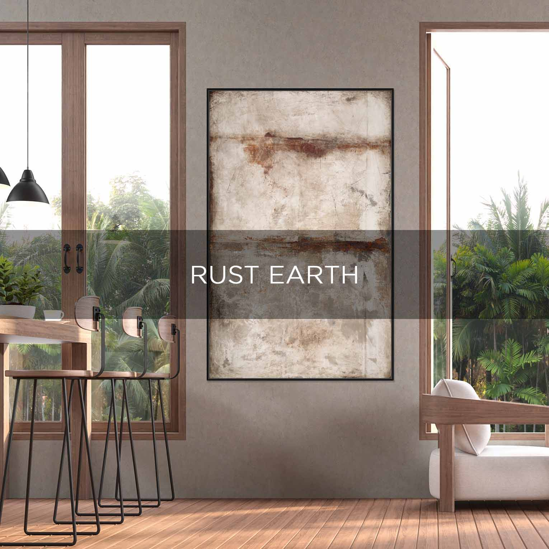 RUST EARTH - QBX DESIGN QUADRO D'ARREDO PER IL SETTORE LUXORY