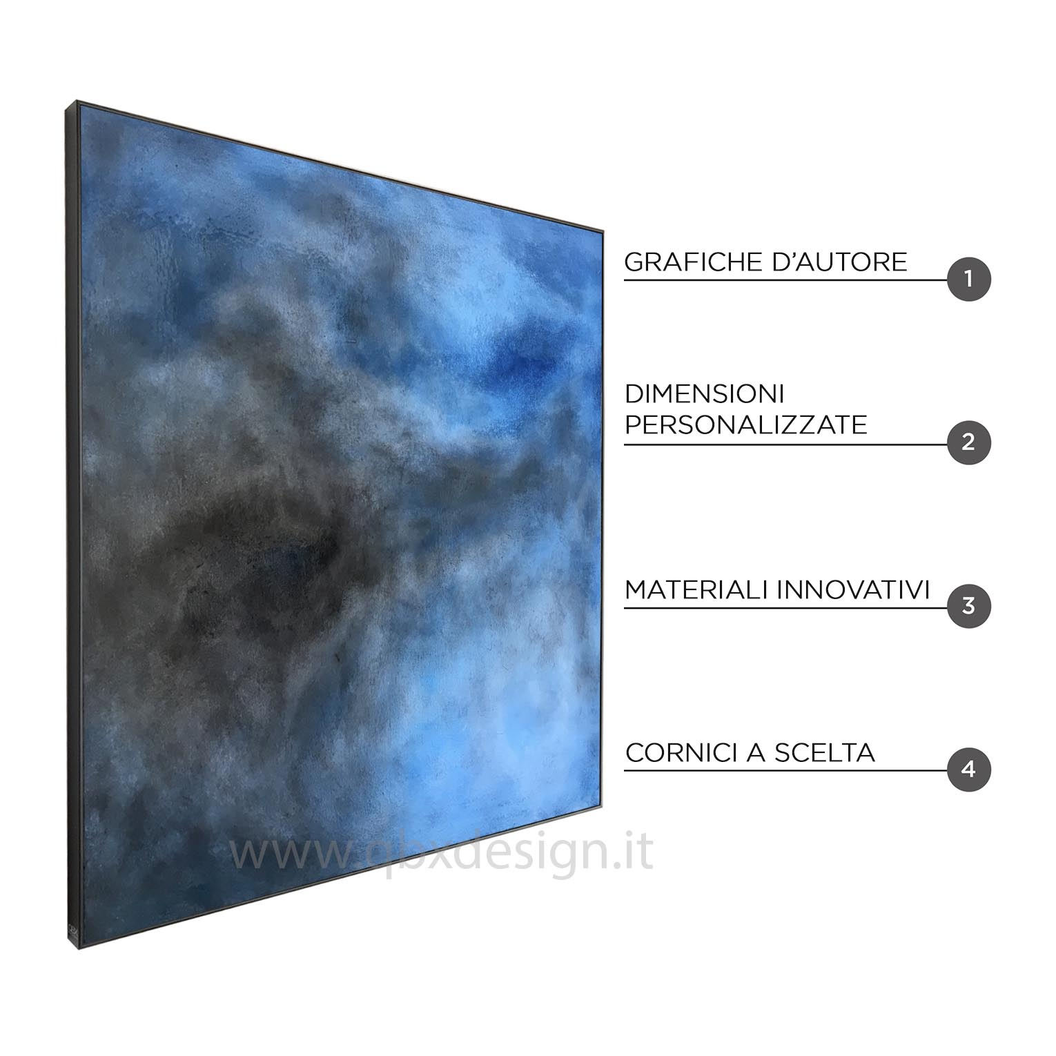 LIGHT SOUL - QBX DESIGN QUADRO ASTRATTO