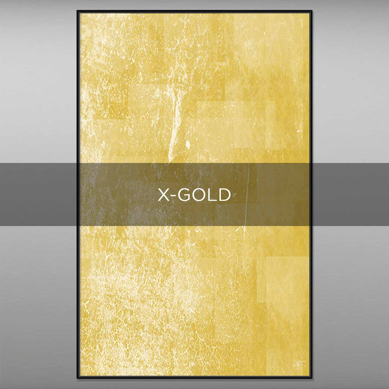 X-GOLD - QBX DESIGN QUADRI ASTRATTI