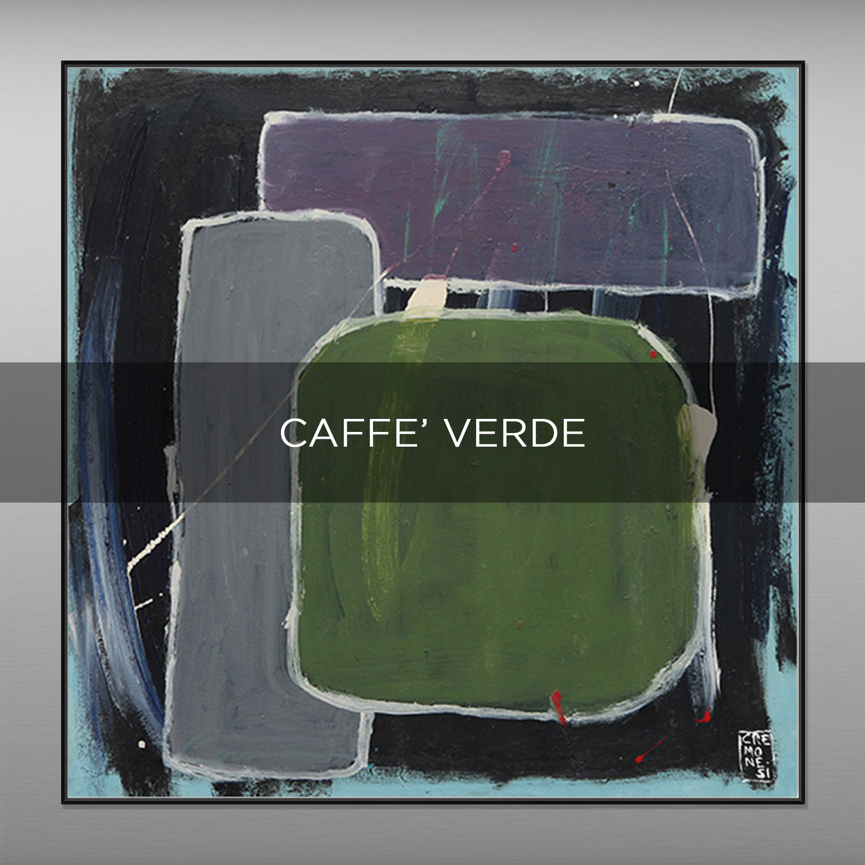 CAFFE' VERDE - QBX DESIGN QUADRI ASTRATTI