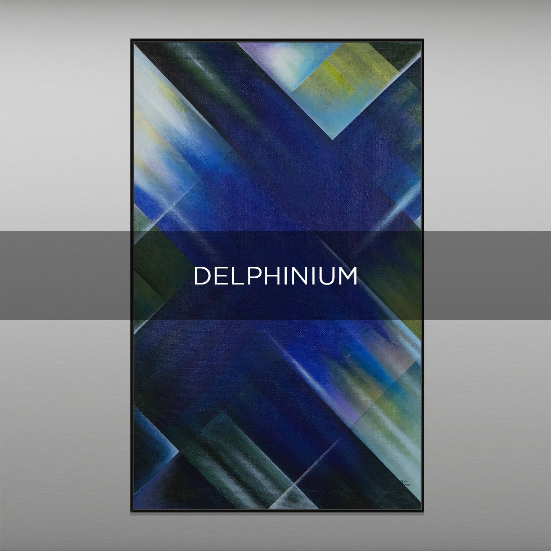 DELPHINIUM - QBX DESIGN QUADRI ASTRATTI