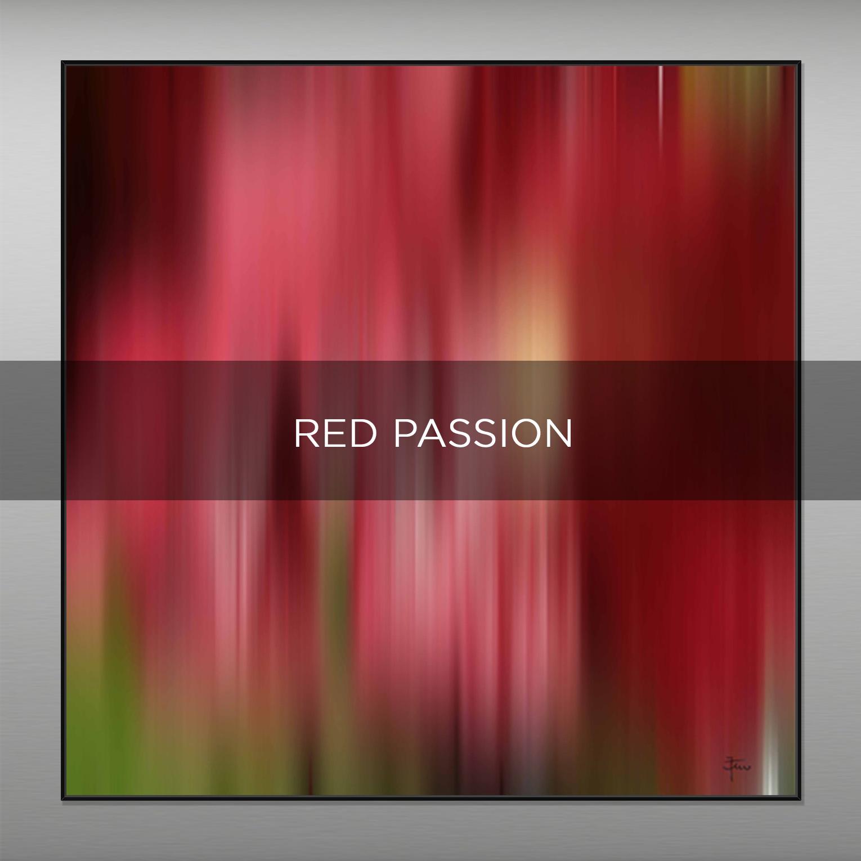 RED PASSION - QBX DESIGN QUADRI ASTRATTI