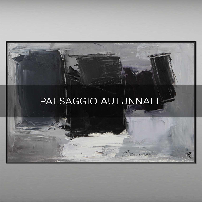 PAESAGGIO AUTUNNALE - QBX DESIGN QUADRI ASTRATTI