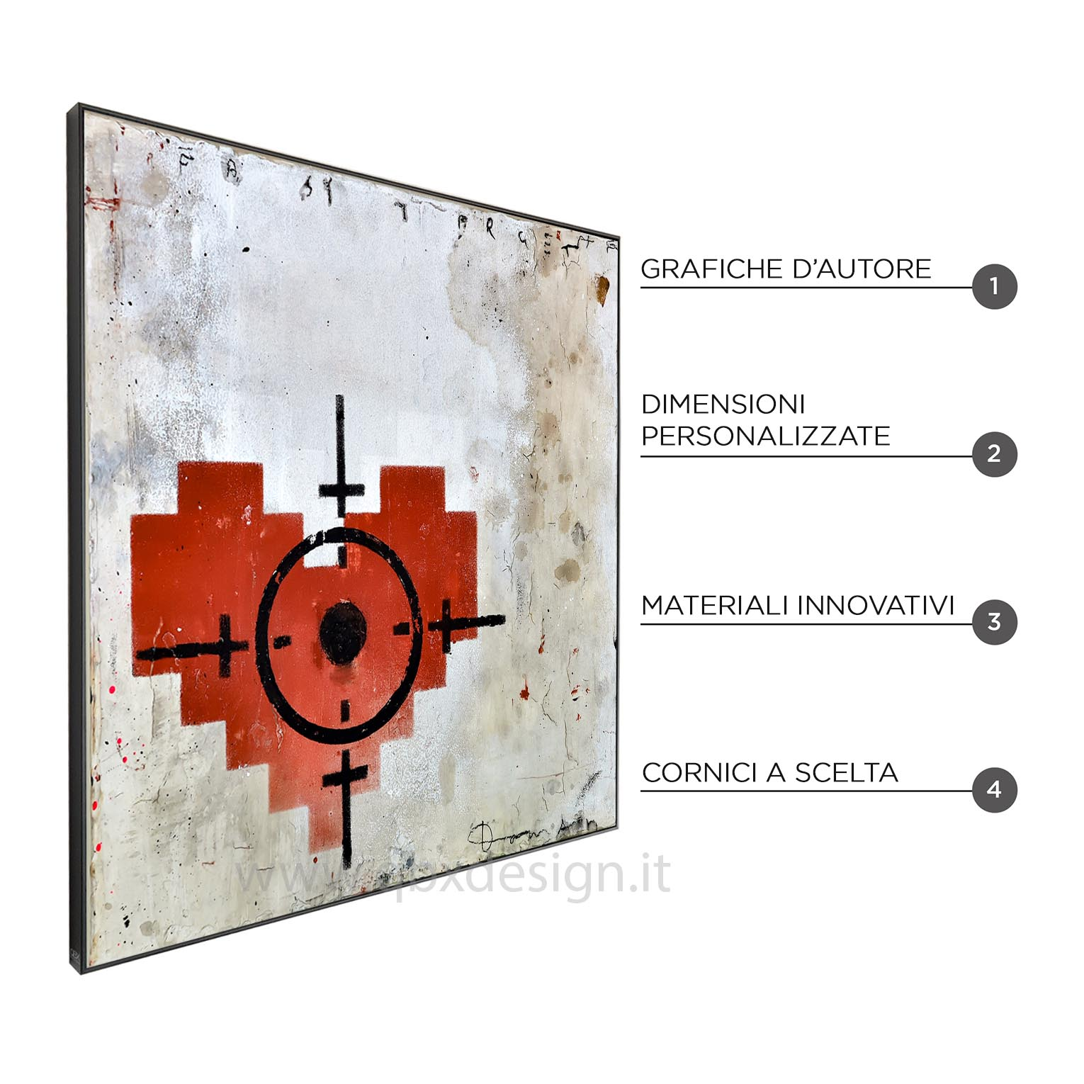 EASY TARGET RED - QBX DESIGN QUADRO ASTRATTO