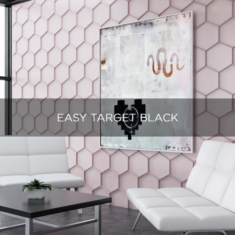 EASY TARGET BLACK - QBX DESIGN QUADRO D'ARREDO PER IL SETTORE LUXORY