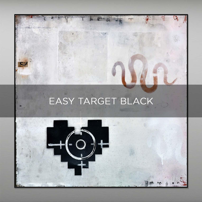 EASY TARGET BLACK - QBX DESIGN QUADRI ASTRATTI