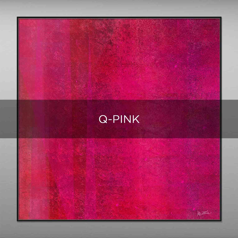 Q-PINK - QBX DESIGN QUADRI ASTRATTI