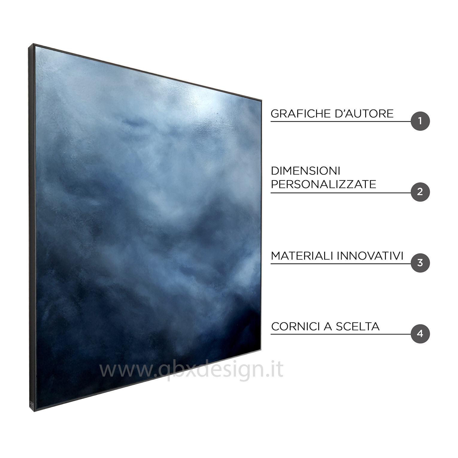 TRASCENDENZA - QBX DESIGN QUADRO ASTRATTO