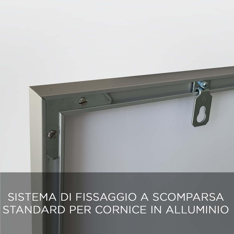 FISSAGGIO CORNICE ALLUMINIO QBX DESIGN